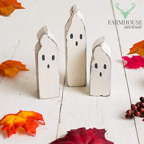 Rustic Wooden Ghosts | Rustic Fall Decor | Primitive Ghosts | Ghost Figurines | Wooden Ghosts | Farmhouse Fall Decor | Rustic Halloween Decor | Country Fall Decor | Country Halloween Decor