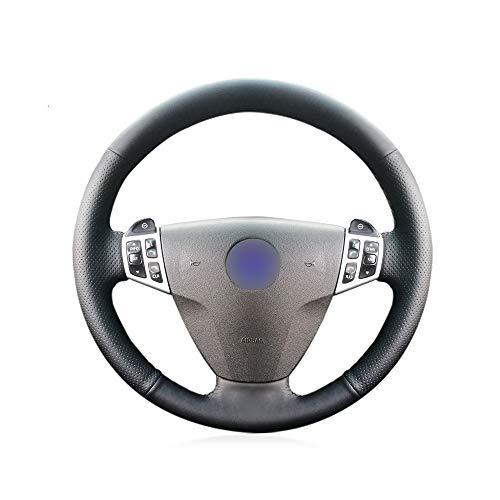 KDKDKLMB steering wheel cover Black leather car steering wheel cover for Saab 9-3 2008: