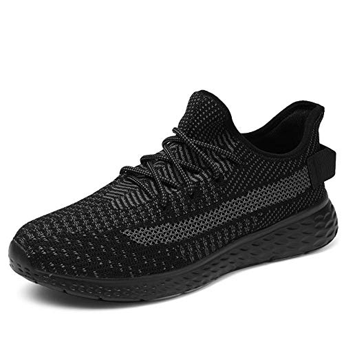 Men's Walking Shoes Casual Sneakers - Athletic Running Non-Slip Lightweight Outdoor Fashion Sneaker MS1936-Black-US10