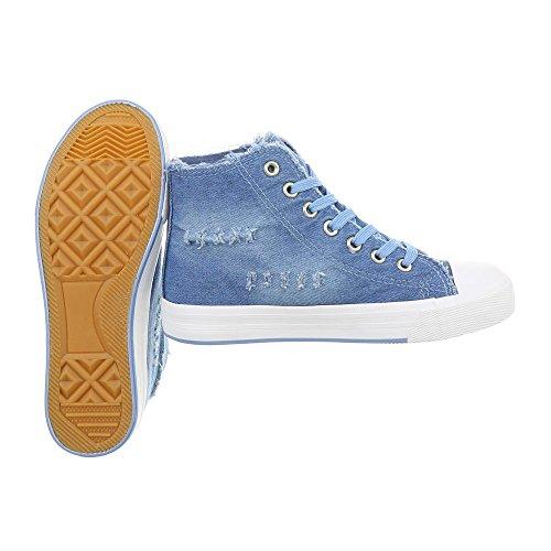 Altas Zapatos Design Plano Zapatillas Azul Mujer R15 Ital Para Zapatillas 50Hnqx6T