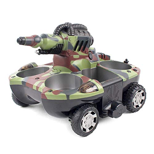 Woolves Amphibious RC Car All Terrain Remote Control Toy Remote Control Tank RC Amphibious Chariot Remote Control Boat for Kids