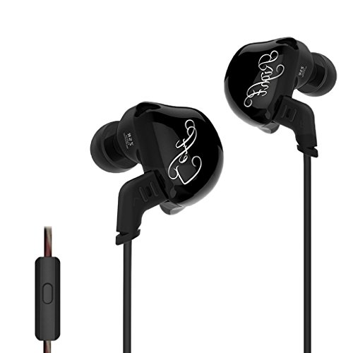 Homyl In Ear Earphone Hifi Stereo Deep Bass Earbuds with 0.75mm Gold Plated Pin Black by Homyl