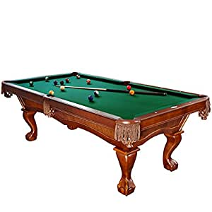 Brunswick 8 foot danbury pool table with green contender cloth and play kit - Billiard table accessories ...