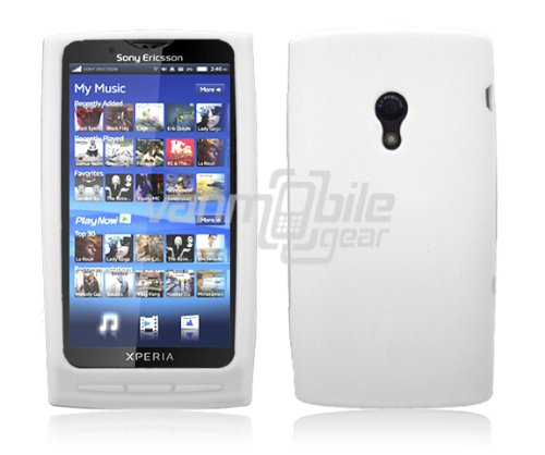 White Soft Silicone Skin Case for Sony Ericsson Xperia X10