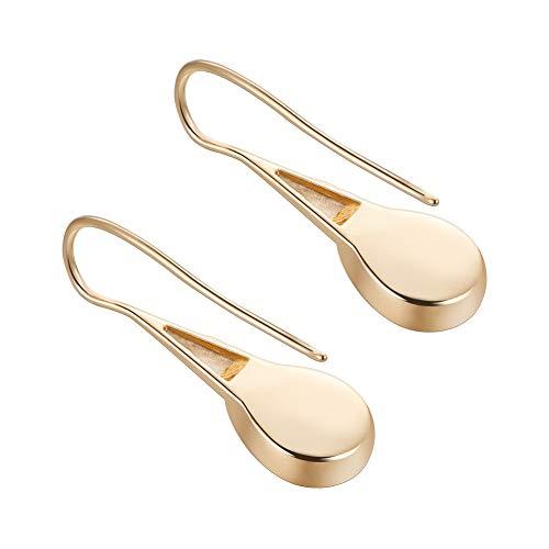 (BENECREAT 20 PCS 18K Gold Plated Earring Fish Hook Earrings Teardrop Earrings for DIY Making Findings - 35.3x11.5mm)