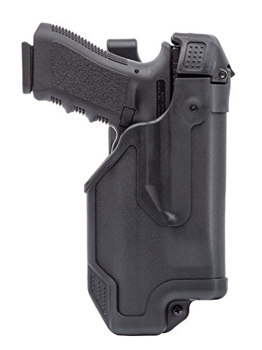 Blackhawk 44E000BK-R Glock 17/22/31 Epoch Level 3 Molded Light Bearing Duty Holster, Matte - 31 Three Light