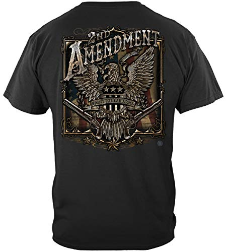 (Patriotic Short Sleeve Shirts, 100% Cotton Casual Mens Shirts, Show Your Pride with our 2nd Amendment Eagle Silver Foil Unisex T-Shirts for Men or Women (XXX-Large) )