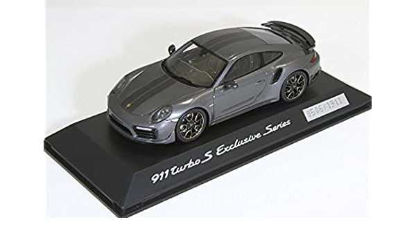 Porsche 911 Turbo S Exclusive Series 1:43 achatgraumetallic - WAP0209050H: Amazon.es: Coche y moto