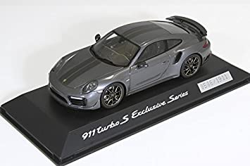 Porsche 911 Turbo S Exclusive Series 1:43 achatgraumetallic - WAP0209050H: Amazon.es: Coche y moto