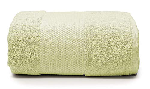 Plus Plush Towels | 32 x 90 Inch Extra Large Bathroom Towel Sheet | Luxury Absorbent Oversize Bath Towel | Fits Plus Size... (Pale Yellow)