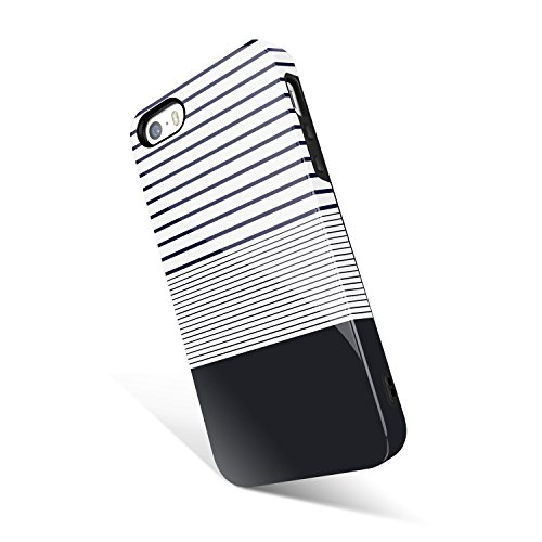 iPhone 5 / 5s /SE case stripe, Akna Get-It-Now Collection High Impact Flexible Silicon Cover for iPhone5/5s/SE (591-U.S)