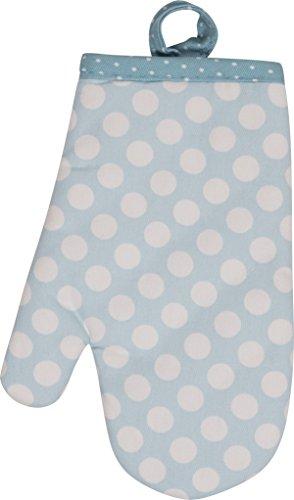 Handstand Kitchen Child's 100% Cotton Shell Pretty Polka Dot Oven Mitt ()