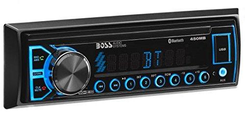 BOSS Audio Elite 450MB Multimedia Car Stereo – Single Din, (No CD/DVD Player) MP3, USB Port, AUX Input, AM/FM Radio Receiver