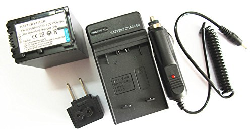 JIOOYEE Battery + Charger for SONY Handycam DCR-SX45 DCR-SX65 DCR-SX85 DCR-SX63 NP-FV100 Camcorder
