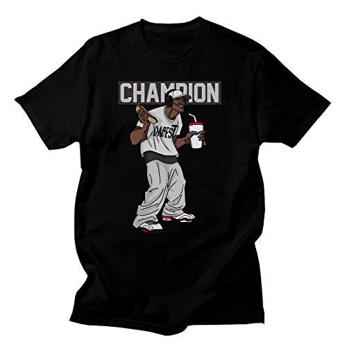 (Custom T Shirt Matching Style of J6 Reflections of a Champion JD 6-16-2-BLACK-4XL)