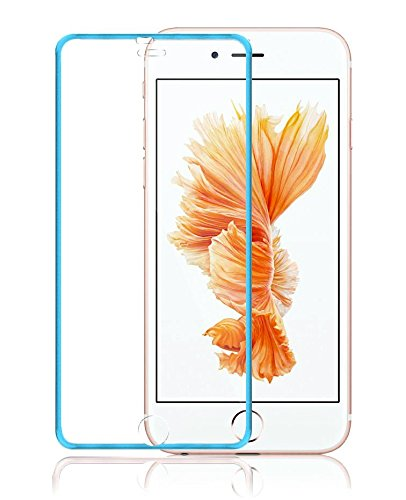 Josi Minea [ iPhone 6/6S ] Tempered Glass Ballistic LCD Screen Protector Full Cover Screen Guard Film Premium HD Shield for Apple iPhone 6 / 6S (4.7-inch) - Blue