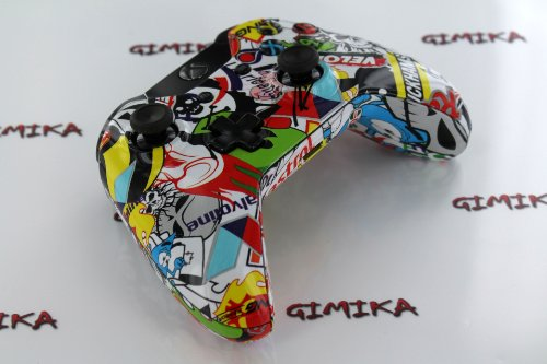 """Wild Stickers"" Xbox ONE Custom Modded Controller Exclusive Design - COD Ready Zombie Auto Aim, Drop Shot, Fast Reload, & Menu for Ghost !"