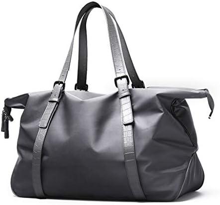 特大のデザインを運ぶポータブルトラベルバッグメンズ多機能大容量荷物預かりジムバッグは、複数の方法 HMMSP (Color : Gray)