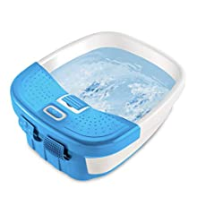 HoMedics Bubble Bliss Deluxe Foot Spa with Heat | Massaging Arch, 3 Acupressure Attachments, Splash Guard, Raised Nodes | Creates Bubbles, Improves Circulation, Soothe Tired Muscles, Built-In Storage