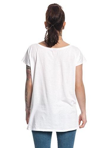 Alice in Wonderland Flower Power Girl Shirt Frauen T-Shirt Weiss