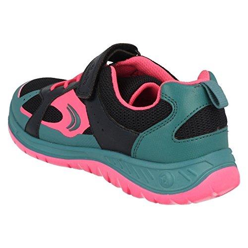 Clarks Bolzen Sie Atom Baby Mädchen Schuhe in Marine Marineblau-Mix