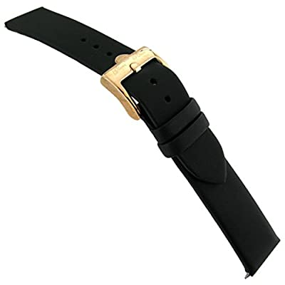 18mm Glam Rock High Quality Swiss Made Techno Silk Black Watch Band EZ PINS by Milano Watchbands