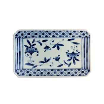 Porcelain Rectangular Plate - Nou (White Japanese Painted Candle)