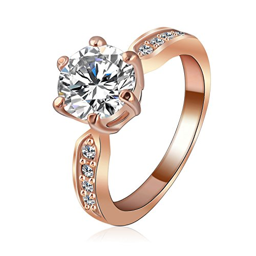 Dudee Kate PRing cess Wedding Ring Clear Zircon Womens cz engagement Ring