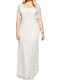 Lace Sleeve Party Size Dress Bridal Short Gown Maxi Plus