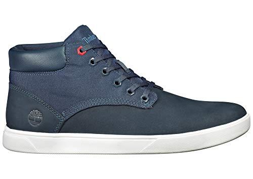 - Timberland A1WJX Men's Groveton Plain Toe Chukka F/L Sneaker, Navy Nubuck - 9.5