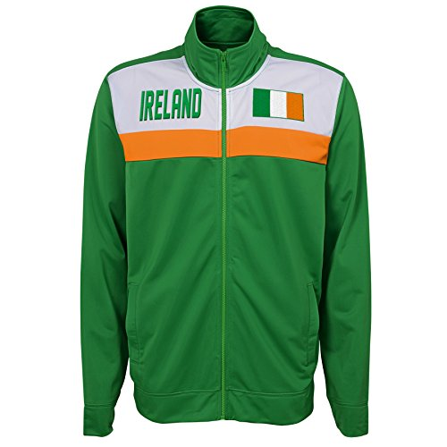 (Outerstuff International Soccer Ireland Track Jacket, Large,)