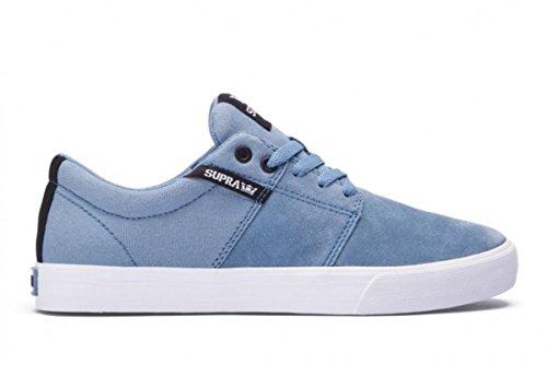 SUPRA Skateboard Shoes Stacks Vulc2 Slate White
