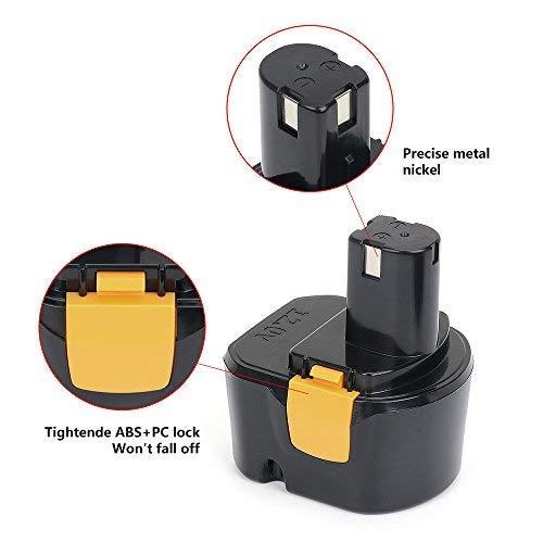 REEXBON 12V 3000mAh Professional Ni-MH Bater/ía de Repuesto para Ryobi B-1222H B-8286 BPP-1217 BPT1025 Ry-1204