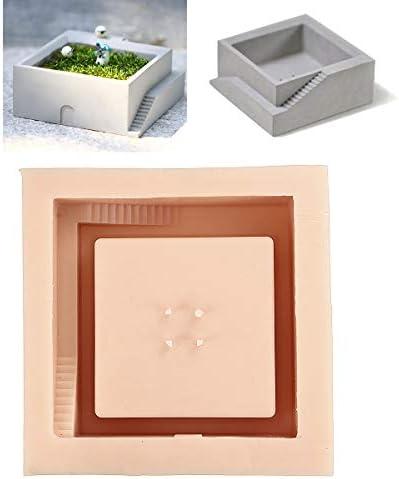 Queenwind シリコーンコンクリート鋳型セメントキューブ DIY フラワーポットモールドガーデンプランター花瓶金型