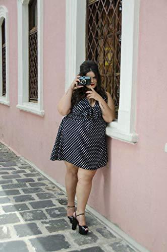 Vestido Poá Com Laço Plus Size