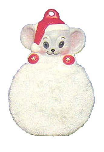 Ornament Snowball Christmas (Santa Mouse on Snowball Ornament 3