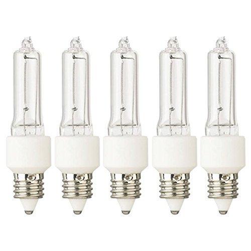Tungsten Halogen Lamp JD 75 Watt 120V E11 Base (5) Lamps
