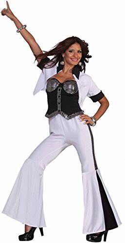 70s Disco Fever Diva Adult Halloween Costume Size 2-6 (Disco Ball Diva Costume)