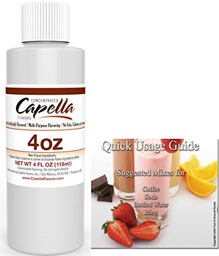 Capella Flavor Drops Concentrated & Quick Start Guide Bundle (Vanilla Custard, 4oz)