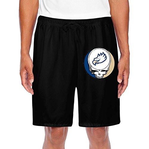 Zoena Men's Cool FGCU Eagles Greatful Dead Short Sweatpants Black Size XXL]()