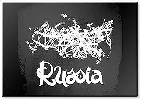 Rusia. Pizarra de fondo abstracto con letras y mapa imán para ...
