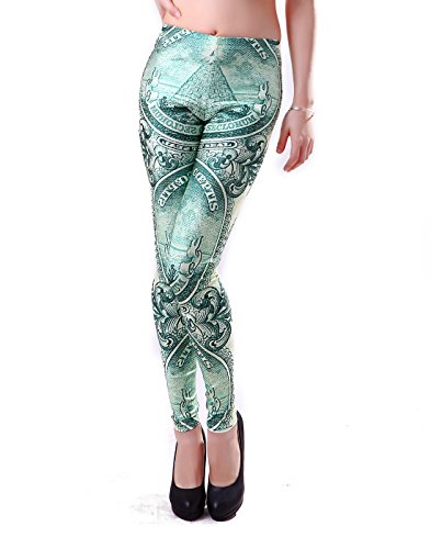 HDE Digital Footless Leggings Benjamins