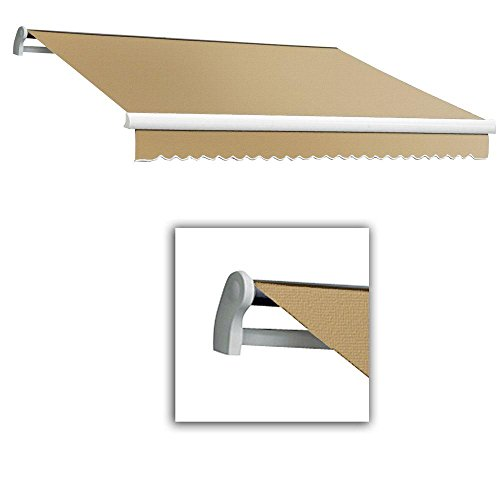 Awntech 8 ft. Maui-LX Left Motor with Remote Retractable Awning (84 in. Projection) Tan (Maui Retractable Motor Left Awning)