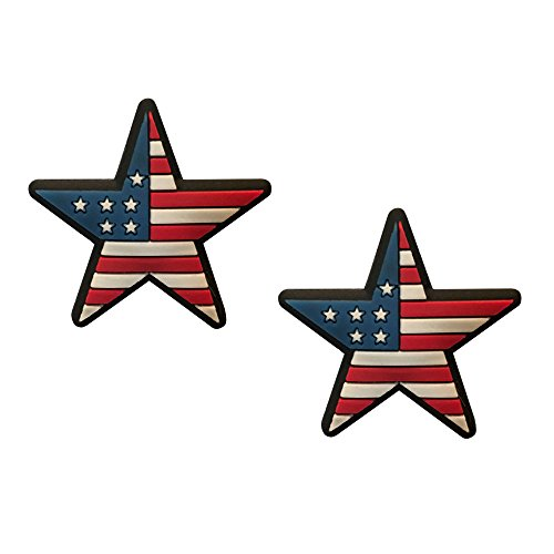 Racket Expressions American Flag Star Tennis Vibration Dampener 2 Pack
