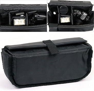 MATIN Cushion Partition DSLR SLR RF Camera Lens Insert Padded Bag Medium size Orange