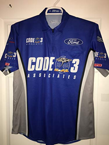 2018 Stewart Haas Authentic Team Issued Nascar Pit Crew Shirt Chevy FORD Simpson CODE 3 ASSOCIATES PET Racing Race Used Rescue