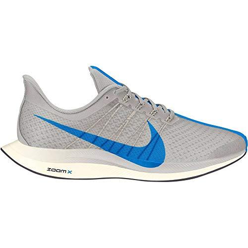 Nike Men's Air Zoom Pegasus 35 Turbo Running Shoes (9.5, White/Blue)