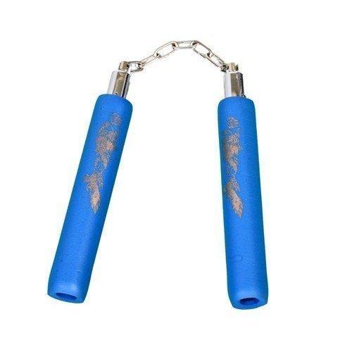 Infantil 20.3cm Nunchakus De Espuma Con Cadena - Todas Azul PLAYWELL