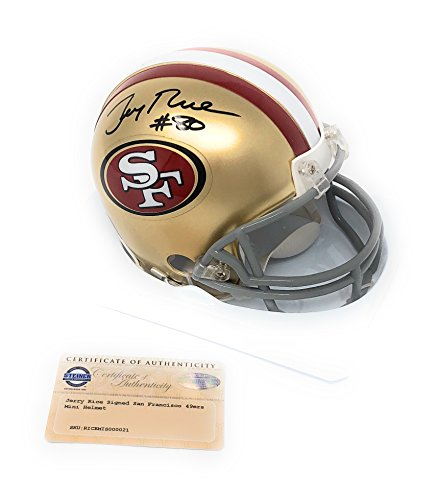 Jerry Rice San Francisco 49ers Signed Autograph Mini Helmet Steiner Sports Certified from Mister Mancave