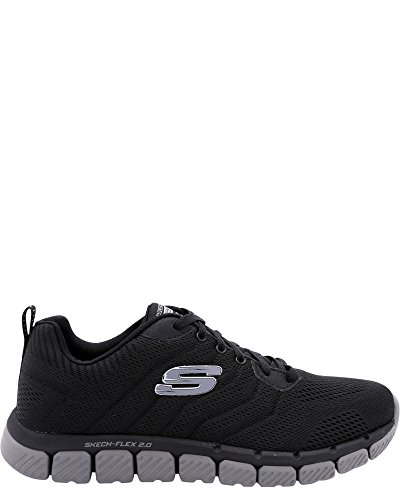 Skechers Mens Mens Skech Flex 2.0 Milwee Fashion Sneaker Nero / Antracite
